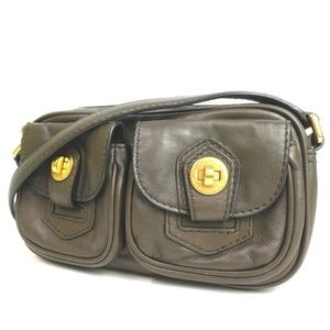MARC BY MARC JACOBS Shoulder Bag Leather gold
